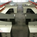70mm Partition Screens with Wave Panels