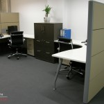 75mm Tile Partition Screens with Radial Workstations