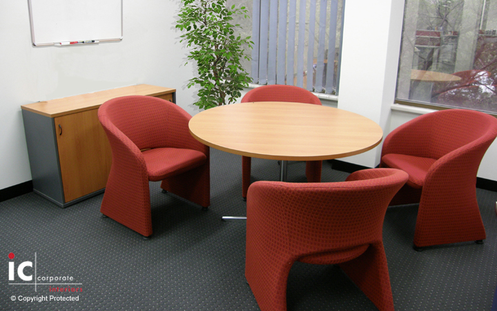Meeting Room with 1200 Dia Table